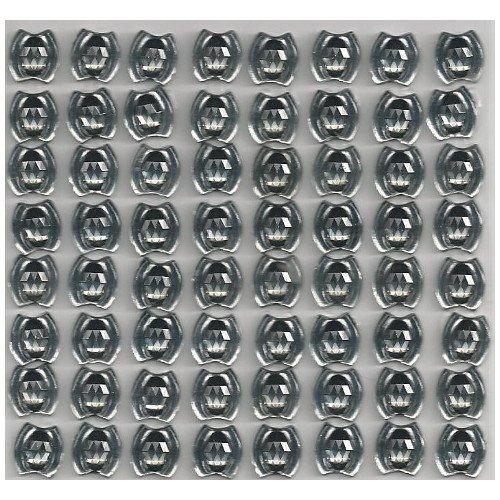 8 Bordüren mit 8 selbstklebenden Glitzerstein-Ornamenten 10x9 mm