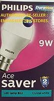 Philips Ace Saver Base B22 9-Watt LED Lamp (Pack of 9, White)