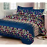 Grand Collections Best Premium Latest King Queen, Kids Under 15 Loving, Cotton Double & Single Bedsheet With 2 Pillow Covers,Blue