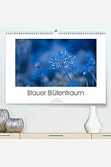 Adam, U: Blauer Blütentraum(Premium, hochwertiger DIN A2 Wan Calendario
