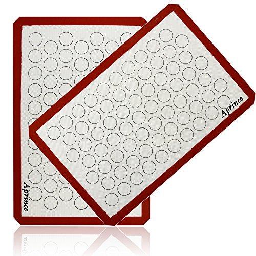 aprince Silikon Backmatte Set (2)/Antihaft-Cookie Blatt-halbes Blatt Größe (Silikon Matte 5) (Mat Blatt Cookie Silikon)