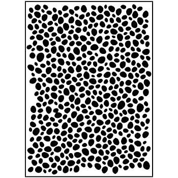 Template Mini Pebbles 10.8 x 14.6 x 0.11 cm Carabelle Studio Embossing Folder Oval Transparent