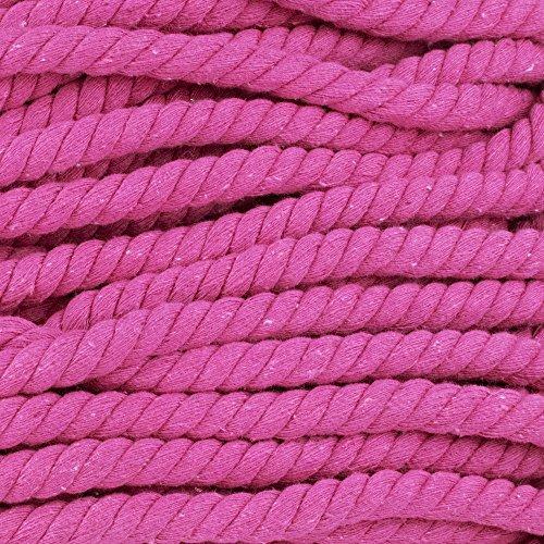 Natur gedrehtes Seil Baumwolle-Super Soft-sortiert Farben ist ½ Zoll Durchmesser entweder in 10, 25, 50oder 100FT Längen 10ft rosarot -