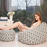 Gigantische Bohnenbeutel Stuhl In Komfortabdeckung Cozy Lounge Sack Zu + Fußschemel , 8 , M (80*90) + Footstool