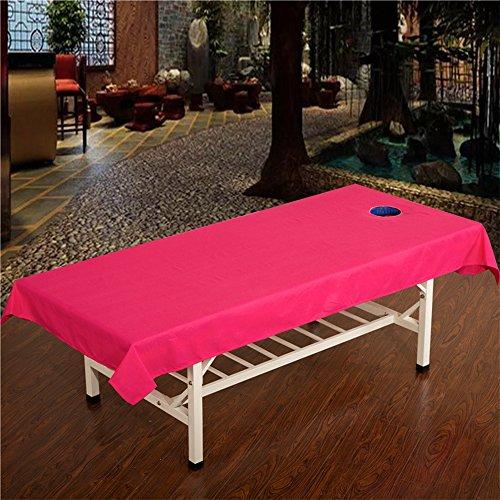 Massage Tisch Tabelle Baumwolle, ZZm Beauty Salon Bett Tisch, Sanitär Gesunden Spa Tabelle, Kosmetik Bed Sheet Cover mit Face Atem Loch 120* 240cm (Spa Tabelle)
