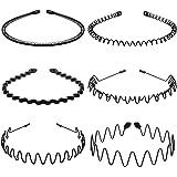 Metalen haarbanden voor mannen vrouwen hoofdbanden schoonheidsverzorging unisex zwart golvend lente sport voor mannen haarban
