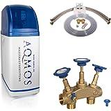Aqmos R2D2-32 Wateronthardingsinstallatie met aansluitset 1 inch en montageblok 1 inch | waterontharder voor huishoudens tot
