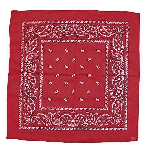 Cowboy-Halstuch Rot Western-Design, One Size (Cowboy Themen Kostüm Ideen)