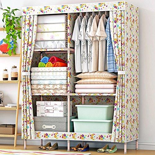 Armario de madera maciza reforzada simple armario / Oxford armario de tela doble ( Estilo : 3 )