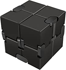 munchkin land Infinity Cube Educational Toys Stress Relief Toy Games Square for Adult and Children (Black)