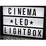 Store2508 Cinema Light Box A4 Size with Both Black & Colour Letters and Symbols Set DIY Cinematic LED Light Box (A4 Size)