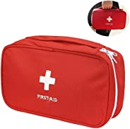 Acomon Portable Empty First Aid Kit Pouch, Nylon Lightweight First Aid Bag for Emergency at Home, Car, Business and Travel (R