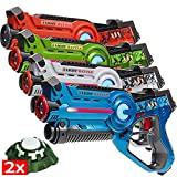 Light Battle 4 Laser Tag guns, Farbe: grün, orange, blau und weiß + 2 Active targets - LBAP2421234D