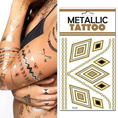 1x - Placa Nº 4 temporal etno hippie tatuajes de metal - Calidad COOLMINIPRIX®