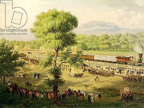 Railway in the Valley of Mexico, 1869 (Oil on Canvas) (169530), Poster, 120 x 90 cm