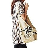 JIAHG Damen Canvas Umhängetasche Handtasche Mädchen Crossover Bag Schultertasche für Arbeit Alltag Schule Wandern Einkaufen R