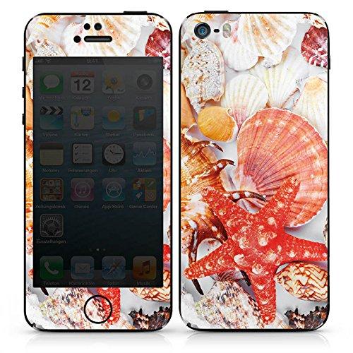 Apple iPhone SE Case Skin Sticker aus Vinyl-Folie Aufkleber Muscheln Seestern Strand DesignSkins® glänzend