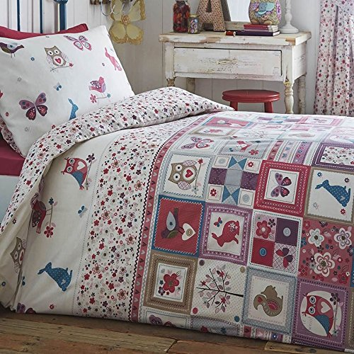 Parure de lit junior Kids Club - Motif patchwork de la nature