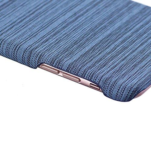 Apple iPhone 6/6S 4.7 Coque, Voguecase Rigide Plastique Shell Housse Coque Étui Case Cover(Voile Séries-Bleu foncé)de Gratuit stylet l'écran aléatoire universelle Voile Séries-Bleu clair