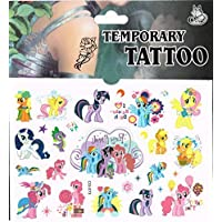 Sheet of Tattoos - Perfect for Party Bags - Frozen, Spiderman and Many More (My Little Pony) by Various