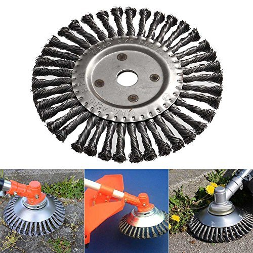 Fishyu Runde Twist Wire Wheel Bürste 200mm Kegel geknotete Weed Brushes Brushcutter