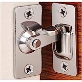 HiDear 90 Degree Right Angle Door Lock Buckle Lock Bolt Lock cam Lock for Door and Window Sliding Lock bar Bolt barn Sliding