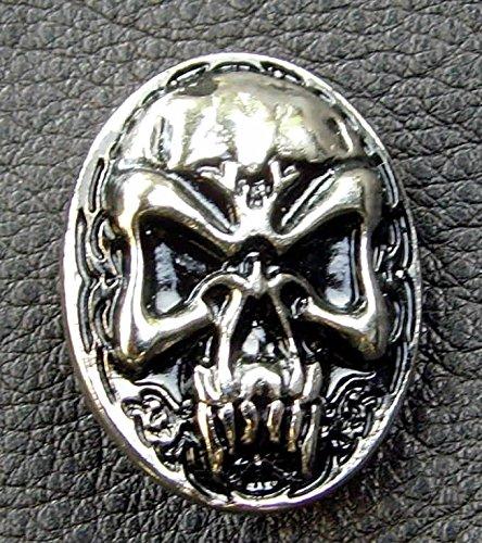 Lederbeutel Dukatenbeutel Geldkatze Farbe schwarz Nordic Skull - 2
