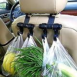Universal Fit Car Seat Hook Organizador de doble suspensión para colgar alimentos, bolsos, ropa, monederos, suministros