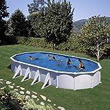 Gre KITPROV918–Pool oval weiß 8seitenverstärkungen Dim: 915x 470H 132