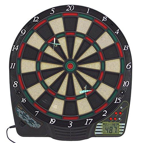 elektro dartscheiben Best Sporting elektronische Dartscheibe Chester, Dartboard mit LCD-Anzeige, 6 Dartpfeilen und Ersatzspitzen, Dartautomat mit Netzadapter (Chester 2)