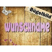 """Glitzer Bügelbild""""Wunschname"""" (3)"""