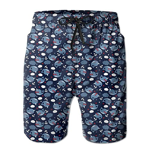 Nicegift New Narwhals Cloud Man Beach Shorts Quick Dry Sea Board Swim Trunks X-Large -
