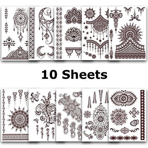 ahimsa-glow-tatouages-temporaires-ensemble-10-feuilles-avec-87-beaux-designs-stickers-amovibles-arab