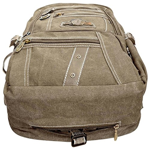 Best canvas backpack in India 2020 Bagathon India Beige Canvas Backpack with Water and Dust Cover Image 5