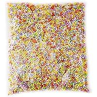 Leisial 1 Sachet Color Foam Matériau de Fabrication de Bricolage Rempli de Particules Enfants de la Main de Matériau de Fabrication pour Piscine et de Baignoire(Mélange de couleurs)