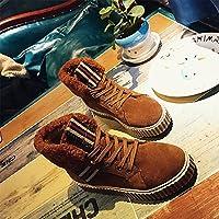 ZHZNVX hsxz Damen Schuhe aus Wildleder, Combat-Stiefel, mit Fell gefüttert,  für aec815f80e