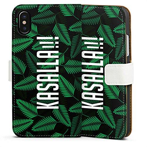 Apple iPhone X Silikon Hülle Case Schutzhülle Dschungelcamp Ich bin ein Star holt mich hier raus Spruch Sideflip Tasche weiß