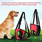 Dog Lift Harness Front Rear Dog Support Harness Walking Aid Lifting Pulling Vest for Old Injured Dogs 18