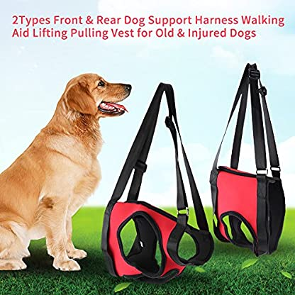 Dog Lift Harness Front Rear Dog Support Harness Walking Aid Lifting Pulling Vest for Old Injured Dogs 9