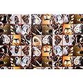 Wachstuch Tischdecke Meterware Motiv Kaffee und Bohnen in Quadraten nach Maß Länge wählbar von ANRO bei Gartenmöbel von Du und Dein Garten