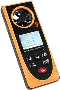 SUIWO Misuratori del Vento Digital anemometro Manuale di velocità del Vento Meter Gauge Air Flow Velocity Termometro Multi-Funzione e igrometro Pressione atmosferica Luxmetro Altitudine Luce Ambiente