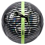 Puma One Chrome Ball Silver Black/Fizzy Yellow, 5