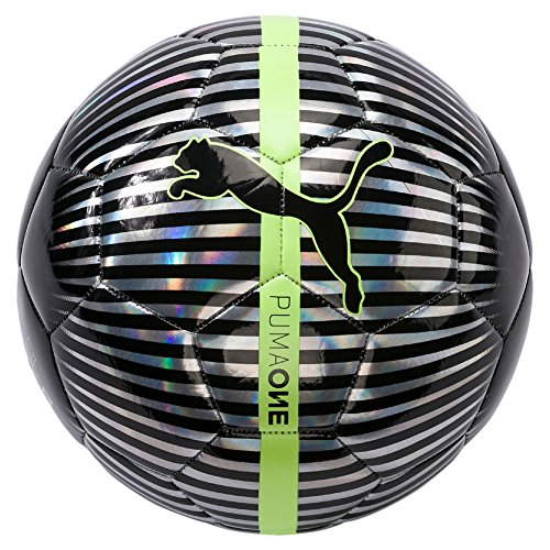 Puma One Chrome Ball, primavera/verano, color Silver Black/Fizzy Yellow, tamaño 5
