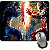 Crazyink Captain Vs Iron Premium Printed Designer Mouse Pad | 22Cm By 18 Cm| Gaming Mouse Pad | Hd Printing | Ultimate Grip | Waterproof Coating | Game Lovers | Perfect For Home & Office | Anti Skid | Slim Light Weight.