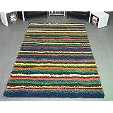 Teppich bunt gestreift  Suchergebnis auf Amazon.de für: bunte teppiche - 290 x 200 ...