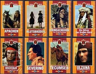 """DEFA Western- und Indianerfilme - 8 x GOJKO MITIĆ in """"APACHEN"""" - """"BLUTSBRÜDER"""" - """"CHINGACHGOOK"""" - """"DIE SÖHNE DER GROSSEN BÄRIN"""""""