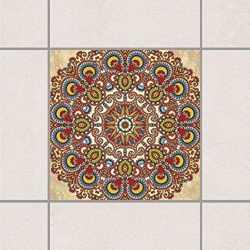 Adhesivo decorativo para azulejos–color Mandala 10cm x 10cm, tamaño: 20piezas