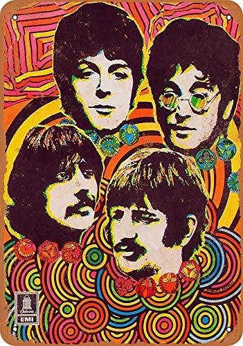 Beatles Music Store Blechschilder Metall Poster Retro Warnschild Schilder Blech Blechschild Malerei Wanddekoration Bar Geschäft Cafe