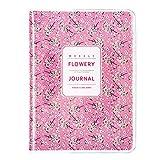 Agenda Giornaliera Settimanale Mensile Tascabile con Fogli Floral, 10,3 x 14 cm (Fiore Rosa 1)