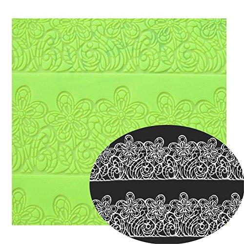 Preisvergleich Produktbild 39x 29cm für große Blume Kuchen Spitze Form Dekorieren Fondant Silikon Mold Zucker Seife Spitze Matte Prägung Ausrollmatte Backmatte Kitchen Craft Bakeware Formen